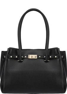 Вместительная кожаная сумка с длинными ручками Addison Michael Kors