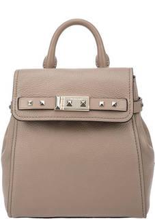 Рюкзак из зерненой кожи с откидным клапаном Addison Michael Kors