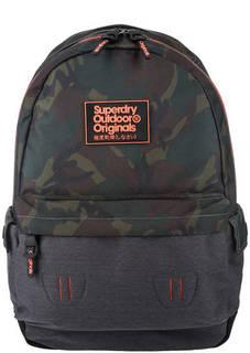 Текстильный рюкзак с камуфляжным принтом Superdry
