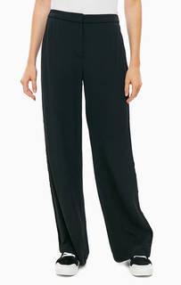Черные брюки с бархатными вставками Karl Lagerfeld
