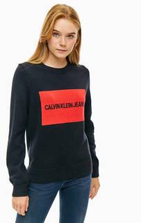 Джемпер из хлопка и шерсти с длинными рукавами Calvin Klein