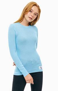 Джемпер синего цвета с высоким содержанием хлопка Calvin Klein