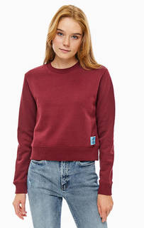 Бордовый свитшот с нашивкой Calvin Klein
