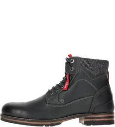 Черные ботинки из нубука S.Oliver