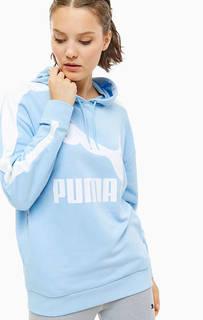 Синяя толстовка с логотипом бренда Puma