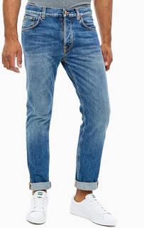 Зауженные джинсы с заломами Fearless Freddie Nudie Jeans