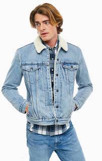 Утепленная джинсовая куртка на кнопках Levis