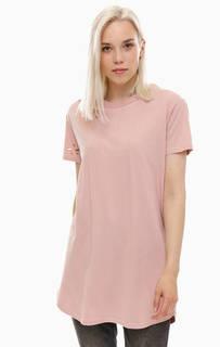 Рваная розовая туника-футболка из хлопка One Teaspoon