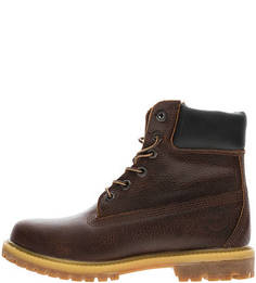 Коричневые ботинки из натуральной кожи Timberland
