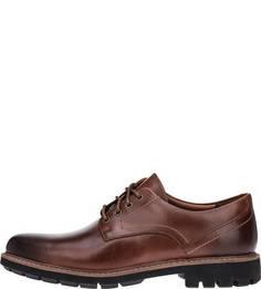 Коричневые ботинки из гладкой кожи Batcombe Hall Clarks