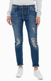 Рваные джинсы бойфренд с низкой посадкой Tapered B-Fit Mustang