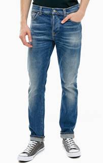Синие джинсы с застежкой на болты Grim Tim Nudie Jeans