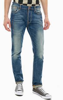 Синие джинсы с заломами Dude Dan Nudie Jeans