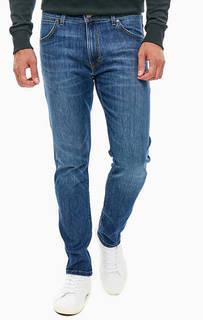 Синие джинсы зауженного кроя с пятью карманами Larston Wrangler