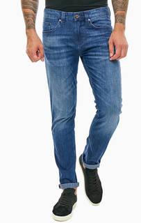 Зауженные синие джинсы с застежкой на молнию и болт Liam Strellson