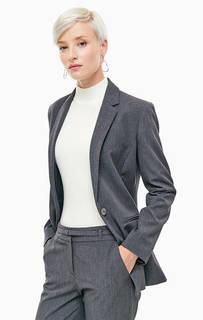 Серый пиджак с карманами Stefanel