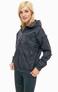 Черная ветровка с капюшоном Adidas by Stella Mc Cartney