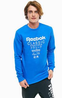 Хлопковый свитшот с принтом Reebok Classic