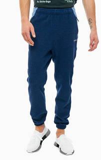 Синие брюки джоггеры с карманами Adidas