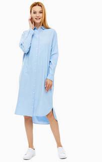 Платье-рубашка из хлопка свободного кроя Selected