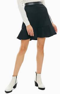 Черная юбка с содержанием шерсти Armani Exchange
