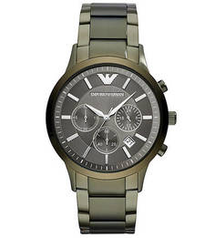 Часы-хронограф с металлическим браслетом Emporio Armani