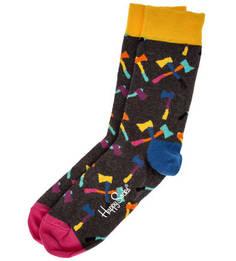 Носки с разноцветным принтом Happy Socks