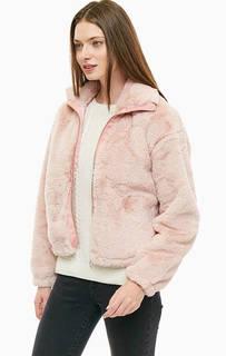 Розовая шуба на молнии Mavi