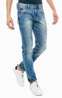 Зауженные синие джинсы J13 Armani Exchange