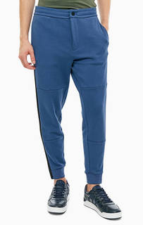 Синие брюки джоггеры в спортивном стиле Armani Exchange
