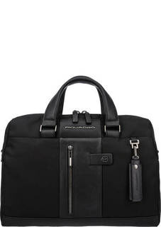 Текстильная сумка с кожаными вставками Piquadro