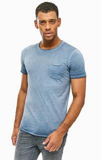Синяя футболка с карманом Jack & Jones
