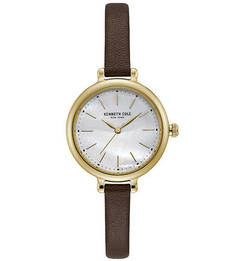 Кварцевые часы с тонким кожаным браслетом CLASSIC Kenneth Cole