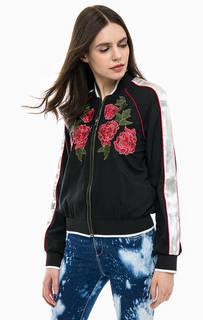 Легкая куртка-бомбер с цветочной вышивкой GAS