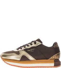 Летние кроссовки с металлическим декором Pepe Jeans