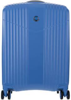 Маленький пластиковый чемодан синего цвета на колесах Verage