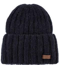 Вязаная синяя шапка с отворотом Noryalli