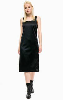 Черное платье-сарафан с разрезом Calvin Klein