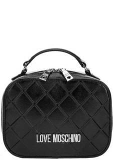 Маленькая черная сумка через плечо Love Moschino