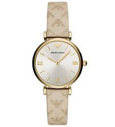 Часы с монограммой бренда на браслете Emporio Armani