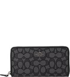 Текстильный кошелек с монограммой бренда Coach