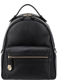 Рюкзак из зерненой кожи с широкими лямками Campus Coach