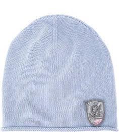 Синяя шерстяная шапка с нашивкой Noryalli