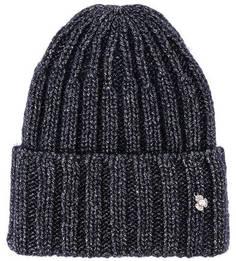 Синяя шапка с металлизированной нитью Noryalli