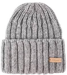 Серая трикотажная шапка крупной вязки Noryalli
