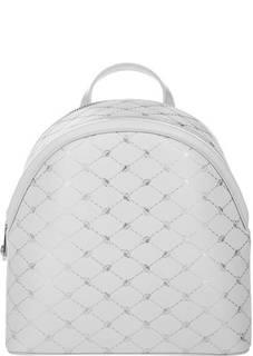 Белый кожаный рюкзак Blumarine