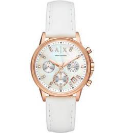 Часы с хронографом и декоративной отделкой Lady Banks Armani Exchange
