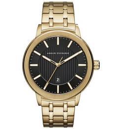 Кварцевые часы с золотистым металлическим браслетом Maddox Armani Exchange