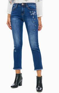 Укороченные джинсы скинни с цветочными нашивками Exotic Jeans Desigual