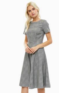 Платье в клетку с расклешенной юбкой More &; More